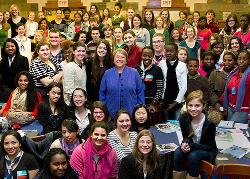 Congratulations to Michelle Bachelet